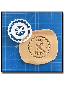 Fait Maison 003 - Emporte-pièce pour pâtes à sucre et sablés sur le thème Fait Main / Hand Made