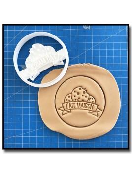 Fait Maison 005 - Emporte-pièce pour pâtes à sucre et sablés sur le thème Fait Main / Hand Made
