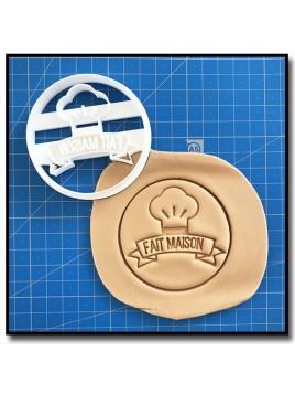 Fait Maison 006 - Emporte-pièce pour pâtes à sucre et sablés sur le thème Fait Main / Hand Made