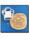 Fait Maison 007 - Emporte-pièce pour pâtes à sucre et sablés sur le thème Fait Main / Hand Made