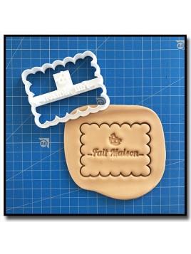 Fait Maison 008 - Emporte-pièce pour pâtes à sucre et sablés sur le thème Fait Main / Hand Made