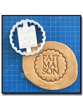 Fait Maison 010 - Emporte-pièce pour pâtes à sucre et sablés sur le thème Fait Main / Hand Made