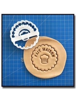 Fait Maison 011 - Emporte-pièce pour pâtes à sucre et sablés sur le thème Fait Main / Hand Made