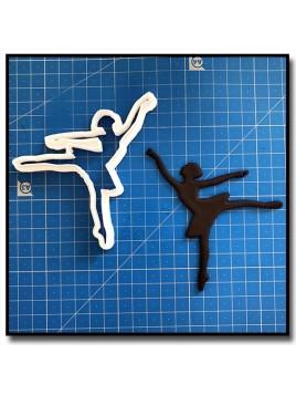 Danseuse/Ballerine 204 - Emporte-pièce pour pâtes à sucre et sablés sur le thème Danse