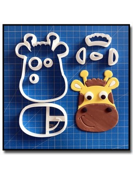 Girafe Visage 101 - Emporte-pièce en Kit pour pâtes à sucre et sablés sur le thème Safari