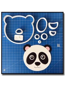 Panda Visage 101 - Emporte-pièce en Kit pour pâtes à sucre et sablés sur le thème Animaux de la forêt