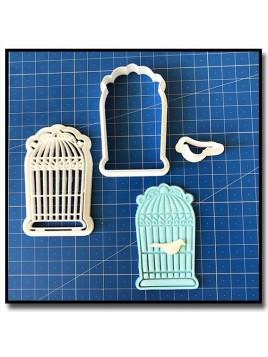 Cage à Oiseaux 101 - Emporte-pièce pour pâtes à sucre et sablés sur le thème Oiseaux & Volatiles