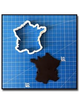 France 201 - Emporte-pièce pour pâtes à sucre et sablés sur le thème Voyage