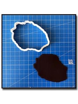 Ile de la Réunion 201 - Emporte-pièce pour pâtes à sucre et sablés sur le thème Voyage