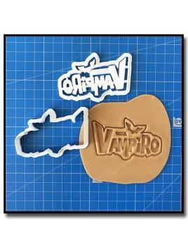 Chica Vampiro Logo 001 - Emporte-pièce pour pâtes à sucre et sablés sur le thème Films, Cinéma et TV