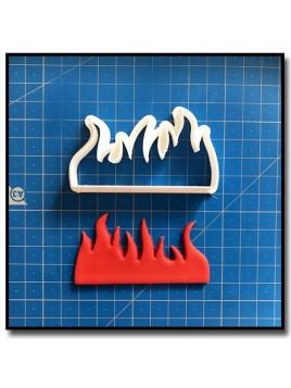 Flamme/Feu 201 - Emporte-pièce pour pâtes à sucre et sablés sur le thème Pompier