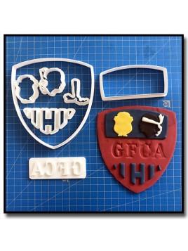 GFCA Ajaccio Logo 101 - Emporte-pièce en Kit pour pâtes à sucre et sablés sur le thème Football