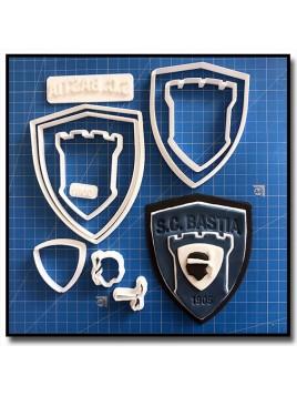 S.C BASTIA Logo 101 - Emporte-pièce en Kit pour pâtes à sucre et sablés sur le thème Football