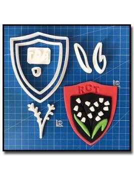 Toulon Logo RCT 101 - Emporte-pièce en Kit pour pâtes à sucre et sablés sur le thème Football