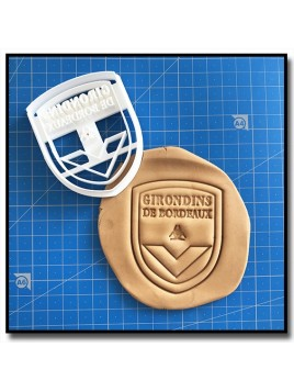 Girondins de Bordeaux 001 - Emporte-pièce pour pâtes à sucre et sablés sur le thème Football