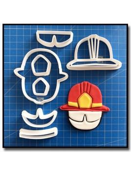 Casque de Pompier 101 - Emporte-pièce en Kit pour pâtes à sucre et sablés sur le thème Pompier