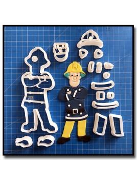 Sam le Pompier 102 - Emporte-pièce en Kit pour pâtes à sucre et sablés sur le thème Dessin Animés