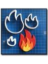 Flamme/Feu 102 - Emporte-pièce pour pâtes à sucre et sablés sur le thème Pompier