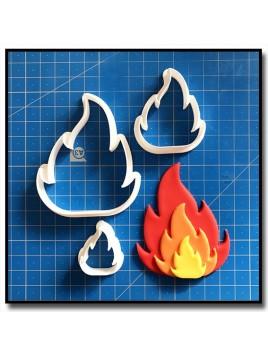 Flamme/Feu 103 - Emporte-pièce pour pâtes à sucre et sablés sur le thème Pompier