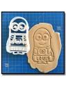 Minions & Prénom 006 - Emporte-pièce pour pâtes à sucre et sablés sur le thème Dessin Animés