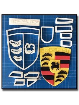 Porsche Logo 101 - Emporte-pièce en Kit pour pâtes à sucre et sablés sur le thème Voiture