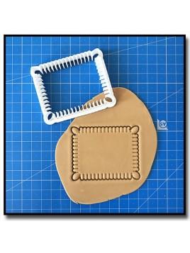 Petit Beurre 001 - Emporte-pièce pour pâtes à sucre et sablés sur le thème Plaques & Formes