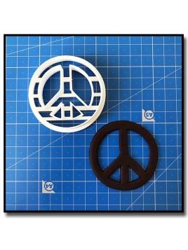 Peace & Love 201 - Emporte-pièce pour pâtes à sucre et sablés sur le thème Hippies