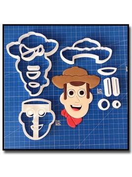 Woody Visage 101 - Emporte-pièce en Kit pour pâtes à sucre et sablés sur le thème Toy Story