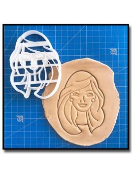Barbie Visage 001 - Emporte-pièce pour pâtes à sucre et sablés sur le thème Barbie
