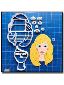 Barbie Visage 101 - Emporte-pièce en Kit pour pâtes à sucre et sablés sur le thème Barbie