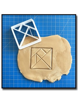 Tangram Origami 001 - Emporte-pièce pour pâtes à sucre et sablés sur le thème Origami