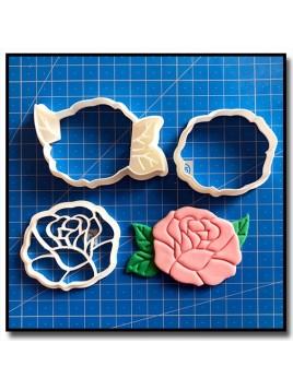 Rose 101 - Emporte-pièce en Kit pour pâtes à sucre et sablés sur le thème La Belle et la Bête