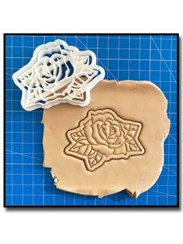Rose 002 - Emporte-pièce pour pâtes à sucre et sablés sur le thème La Belle et la Bête