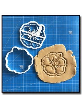 Fleur d'Hibiscus 001 - Emporte-pièce pour pâtes à sucre et sablés sur le thème Vaiana / Moana