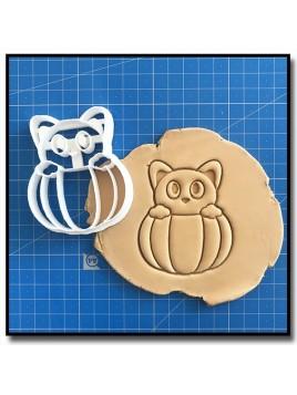 Citrouille & Chat 001 - Emporte-pièce pour pâtes à sucre et sablés sur le thème Halloween