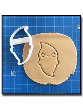 Fantôme 002 - Emporte-pièce pour pâtes à sucre et sablés sur le thème Halloween