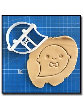 Fantôme Monsieur 001 - Emporte-pièce pour pâtes à sucre et sablés sur le thème Halloween