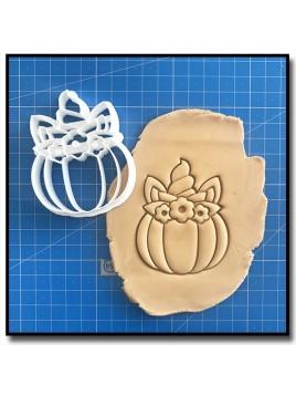 Citrouille Licorne 001 - Emporte-pièce pour pâtes à sucre et sablés sur le thème Halloween