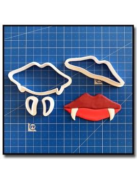 Bouche de Vampire 101 - Emporte-pièce en Kit pour pâtes à sucre et sablés sur le thème Halloween