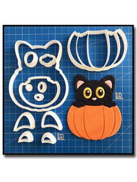 Citrouille & Chat 101 - Emporte-pièce en Kit pour pâtes à sucre et sablés sur le thème Halloween