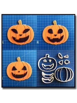 Citrouille Complet 101 - Emporte-pièce en Kit pour pâtes à sucre et sablés sur le thème Halloween