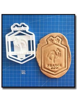 Equipe de France FFF Logo 001 - Emporte-pièce pour pâtes à sucre et sablés sur le thème Football