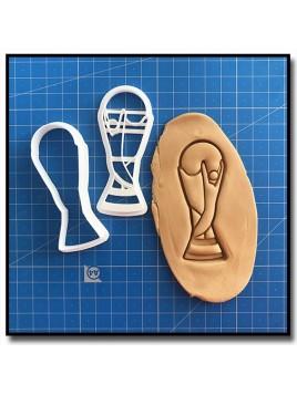 Coupe du Monde 001 - Emporte-pièce pour pâtes à sucre et sablés sur le thème Football