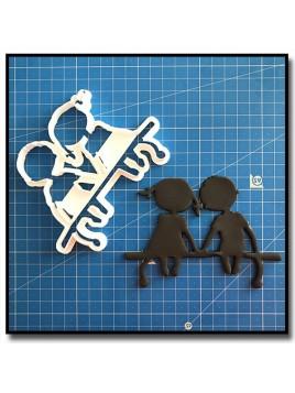Amoureux sur le banc 201 - Emporte-pièce pour pâtes à sucre et sablés sur le thème Mariage