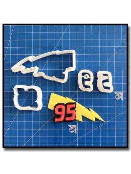 Eclair 95 101 - Emporte-pièce en Kit pour pâtes à sucre et sablés sur le thème Cars