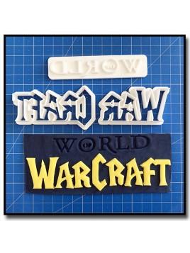World Of WarCraft Logo 101 - Emporte-pièce en Kit pour pâtes à sucre et sablés sur le thème Jeux Vidéos