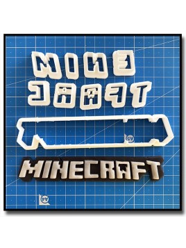 Minecraft Logo 101 - Emporte-pièce en Kit pour pâtes à sucre et sablés sur le thème Jeux Vidéos