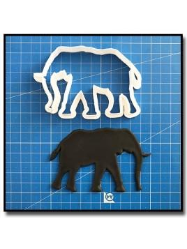 Eléphant 202 - Emporte-pièce pour pâtes à sucre et sablés sur le thème Safari