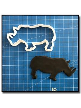 Rhinocéros 201 - Emporte-pièce pour pâtes à sucre et sablés sur le thème Safari