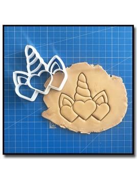 Corne de Licorne 002 - Emporte-pièce pour pâtes à sucre et sablés sur le thème Licorne